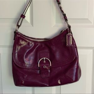 Genuine Coach Soho Messenger Bag - Wine Red